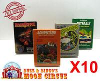 10X  ATARI 2600 CIB GAME BOX -CLEAR PLASTIC PROTECTIVE BOX PROTECTOR SLEEVE CASE