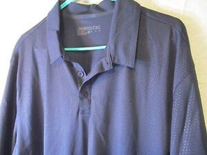 New XL Dark Gray Checked NIKE GOLF Dri-Fit Pullover Polo Shirt-NWT