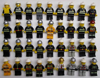 5 LEGO FIREMAN FIREMEN MINIFIGS FIGURES LOT city service random w/ accessories
