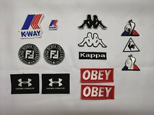 LOT ECUSSONS PATCHS KWAY K WAY FENDI KAPPA OBEY LE COQ SPORTIF UNDER ARMOUR