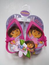 Nickelodeon Dora the Explorer Flip Flop Sandals Shoes Medium 5/6 Purple New