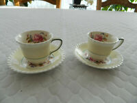 Johnson Brothers Windsor Ware  (2) Demitasse Cups & Saucers               9.3