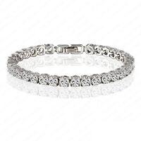 "6.00 ct. Round Cut Diamond Tennis Bracelet In 14k White Gold Finish 6.5"""