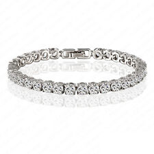 6.00 ct. Round Cut Diamond Tennis Bracelet In 14k White Gold Finish 6.5""