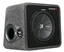 "KICKER 12"" 1000W Loaded Car Audio Subwoofer+ Enclosure (Certified Refurbished)"