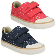 Plimsolls Canvas Shoes with Hook & Loop Fasteners for Girls