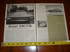 1980 FERRARI 308GTBi - ORIGINAL ARTICLE