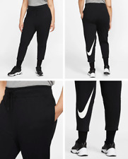 Nike Sportswear Swoosh Women's French Terry Trousers (Plus Size), Black Size 3X