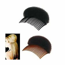 2Pices(1Black+1Brown) Women Bump It Up Volume Hair Base Styling Clip Stick Bu...