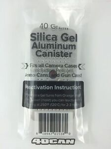 40 Gram Silica Gel Desiccant Canisters (4 pack) Factory 2nds