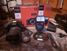 Sony Alpha SLT a77 24.3MP Digitalkamera KIT + Sony 16-50 mm  18-200 + Sony Blitz