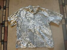 Cooke Street short sleeve button front 100% cotton Hawaiian shirt men's size L
