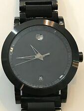 MOVADO Museum Sport Black Dial Black PVD Men's Watch 0606615