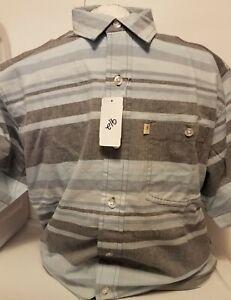 NEW Bob Timberlake Men's Striped Short Sleeve Button Up Shirt Size Medium
