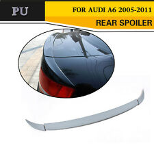 Rear Trunk Boot Lip Spoiler Wing Fit for Audi A6 C6 Saloon 05-11 Unpainted PU