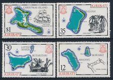 1981 KIRIBATI MAPS PART I SET OF 4 FINE MINT MNH