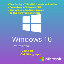 Win 10 Pro 32+64 Bit✔️full Version Product🔑Key✔️⚡Fast Shipping  20s