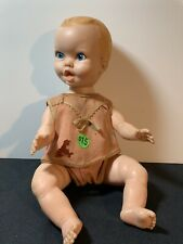 New ListingVintage Gerber Baby Boy Doll Wearing A Girls World Outfit 1972? Blue Eyes Blonde