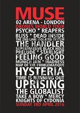 Custom Set List Poster Any Artist Or Band.