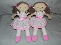 M&S PINK DOLL COMFORTER FLORAL DOUDOU MARKS AND SPENCER TWO 2