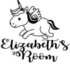 Unicorn Bedroom Door/Wall Decal - You can have any name you want           D1