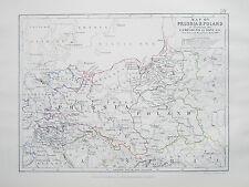 Map of PRUSSIA & POLAND to Illustrate the Campaigns of 1806 JOHNSTON 1866