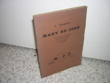 1925.Mary de Cork / Joseph Kessel.envoi autographe.ex.HC.Cocteau