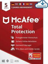 Antivirenprogramm | McAfee® Total Protection | 5 Geräte | 1 Jahr