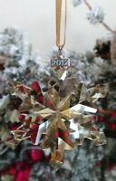 2012 *AS IS* SWAROVSKI SCS GOLDEN ANNUAL LARGE CHRISTMAS ORNAMENT #1039970
