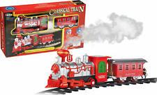 Luna Eisenbahn Spielset 8-tlg. Dampflok Waggons Schienen mit Licht u. Sound +3J