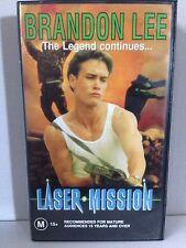 LASER MISSION ~ BRANDON LEE ~ THE LEGEND CONTINUES ~ RARE VHS VIDEO