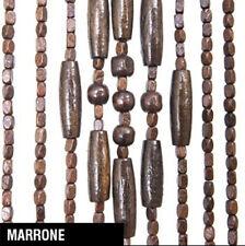 Z036I TENDA LEGNO MARRONE 100x220 CM DECORO CASA PORTE ETNICHE LEGNO CON DISEGNO