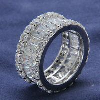 Full Diamond Eternity Band Engagement & Wedding Ring 2 Ct Diamond 14K White Gold
