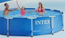 INTEX Familien Swimmingpool mit Metallrahmen 366 x 84 cm Pool inkl. Zubehör NEU!