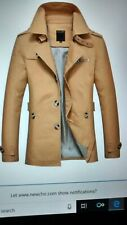 Mens brushed cotton slim fit trench jacket =READ FOR SIZE  XXL ??? slim fit read