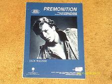 Jack Wagner sheet music Premonition 1984 5 pages (VG+ shape)