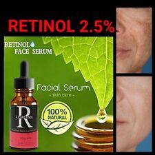 Retinol 2.5% + Vitamin C Face Serum 20% & Hyaluronic Acid Anti Wrinkle Serum