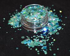 Mezcla de brillo hermoso para uñas Gel Esmeralda ciudad para Acrílico y aplicación