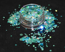 Beautiful Glitter Mix for Nail Art Aqua Splash For Acrylic / Gel Application