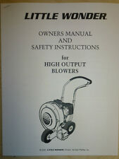 MANTIS LITTLE WONDER HIGH OUTPUT BLOWER OWNERS PARTS MANUAL 9500 9510 9800 9810