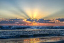 Radiant Dawn Chuck Burdick Photograph Ocean Beach Sunrise Print Poster 26x18