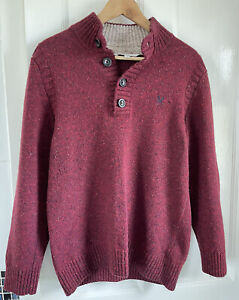 Mens M Crew Clothing Collared Jumper Sweater LambswoolHeavyweight