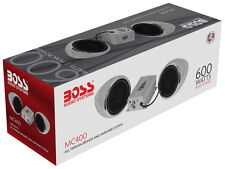 "Boss MC400 3"" Weatherproof Bike and Motorcycle Handlebar Speakers w/ 600W Amp"