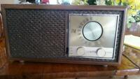 1950's Zenith Radio, AM/FM Tube Model M730 Wood Cabinet Works but s/b restored