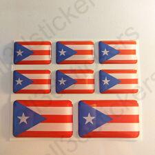 Pegatinas Puerto Rico Pegatina Bandera Vinilo Adhesivo 3D Relieve Resina Coche