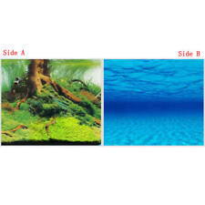 "23.5""x 60"" Double Sided Fish Tank Aquarium Deco Background Blue Sea/ Waterscape"