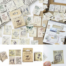 46pcs DIY Vintage Stamps Stickers Kawaii Stationery Scrapbooking Diary Stickers