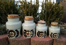 OTAGIRI Japan Stoneware Storage Jar Cork Lid Canister Mid Century Wheel Nautical
