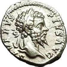 SEPTIMIUS SEVERUS Veiled with branch 202AD Silver Ancient Roman Coin  i39697