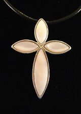 Cross Pendant Exquisite Natural Pink Shell